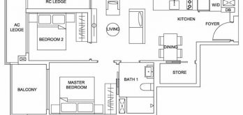 urban-treasures-floor-plan-2-bedroom-compact-2a-singapore