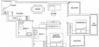 urban-treasures-floor-plan-2-bedroom-standard-2e-singapore