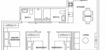 urban-treasures-floor-plan-3-bedroom-compact-3a-singapore